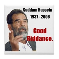 Saddam Hussein Tile Coaster