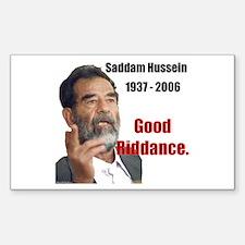 Saddam Hussein Rectangle Decal