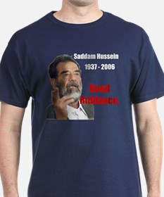Saddam Hussein Blue T-Shirt