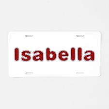 Isabella Santa Fur Aluminum License Plate