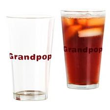 Grandpop Santa Fur Drinking Glass