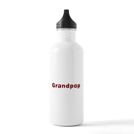 Grandpop Santa Fur Water Bottle