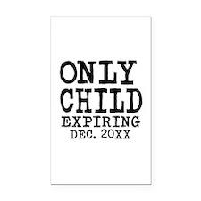 Only Child Expiring Rectangle Car Magnet