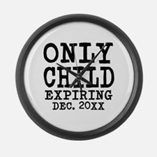 Only Child Expiring Large Wall Clock