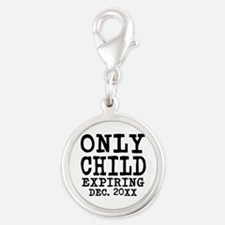 Only Child Expiring Silver Round Charm