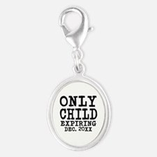 Only Child Expiring Silver Oval Charm