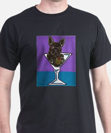 Black/Brindle French Bulldog T-Shirt
