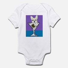 Fawn French Bulldog Martini Infant Bodysuit