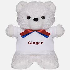Ginger Santa Fur Teddy Bear
