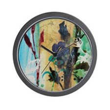 leaf berry flower 8.jpg Wall Clock