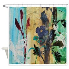leaf berry flower 8.jpg Shower Curtain