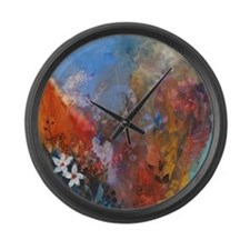 Behold The Falling Waters Large Wall Clock
