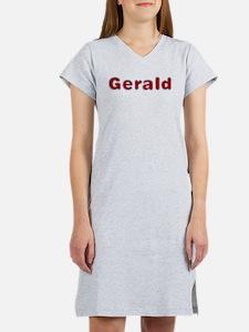 Gerald Santa Fur Women's Nightshirt