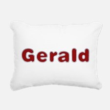 Gerald Santa Fur Rectangular Canvas Pillow