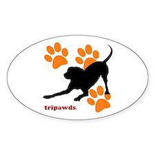 Tripawds Hound Dog Decal