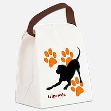 Tripawds Hound Dog Canvas Lunch Bag