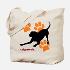 Tripawds Hound Dog Tote Bag