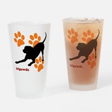 Tripawds Hound Dog Drinking Glass
