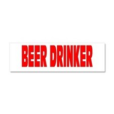 BEER DRINKER Car Magnet 10 x 3