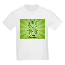 Lyme Disease Awareness Heart Ribbon T-Shirt