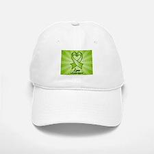 Lyme Disease Awareness Heart Ribbon Baseball Baseball Cap