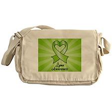 Lyme Disease Awareness Heart Ribbon Messenger Bag