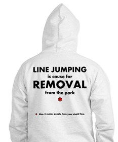 Line jumping (stupid face) Hoodie