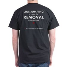 Line jumping (stupid face) T-Shirt