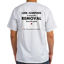 Line jumping (stupid face) T-Shirt