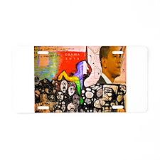Obama Pride Aluminum License Plate