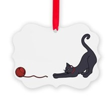 Cat and Yarn Ornament