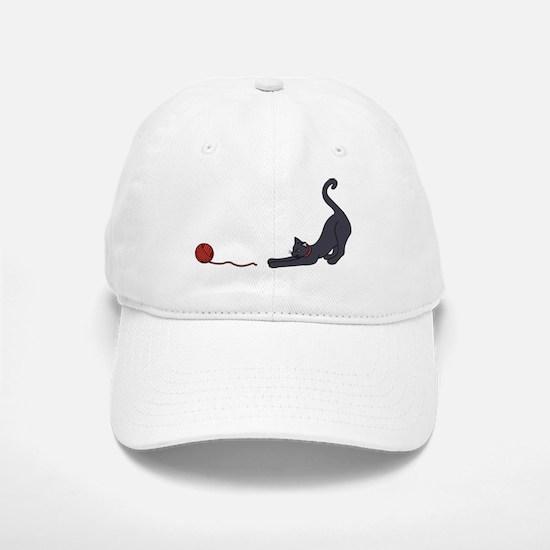 Cat and Yarn Baseball Baseball Baseball Cap