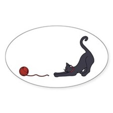 Cat and Yarn Decal
