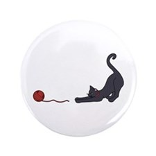 "Cat and Yarn 3.5"" Button"
