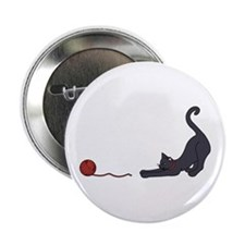 "Cat and Yarn 2.25"" Button"