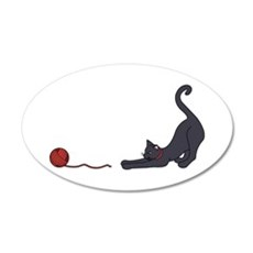 Cat and Yarn Wall Decal