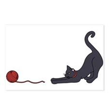 Cat and Yarn Postcards (Package of 8)