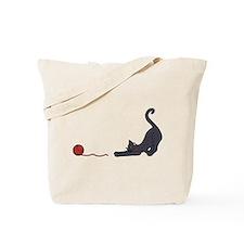 Cat and Yarn Tote Bag