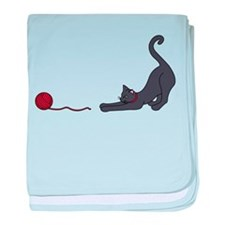 Cat and Yarn baby blanket