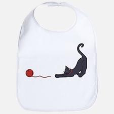 Cat and Yarn Bib