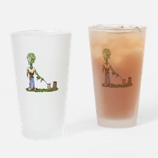 Zombie Dog Walker Drinking Glass