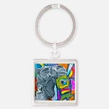 Colorful Camel Square Keychain