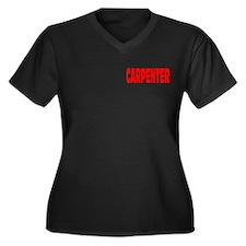 CARPENTER Women's Plus Size V-Neck Dark T-Shirt