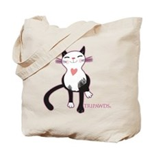Tripawd Cat Love Tote Bag
