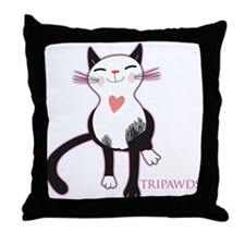 Tripawd Cat Love Throw Pillow