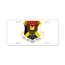 65th ABW Aluminum License Plate