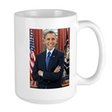 President obama Large Mugs (15 oz)