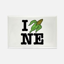 I Love Nebraska (corn) Rectangle Magnet