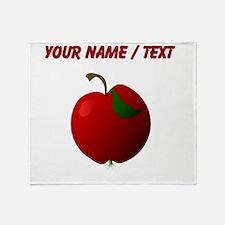 Custom Apple Throw Blanket