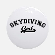 Skydiving girl Ornament (Round)
